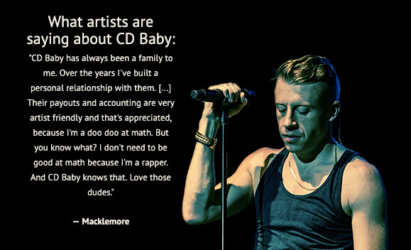 what artists are saying about cdbaby