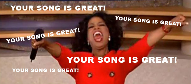 Oprah - your song is great!