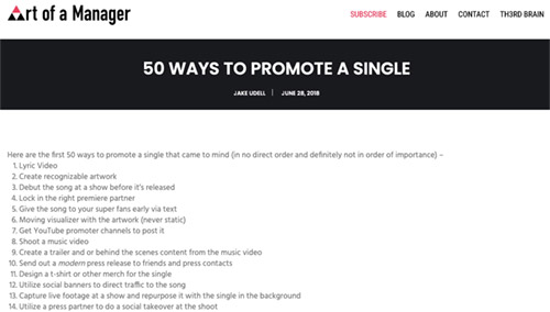 50 Ways to Promote A Single