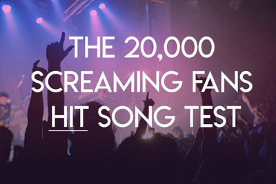 20000 screaming fans hit song test