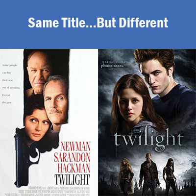 Same title but different (Twilight)